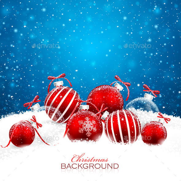 GraphicRiver Christmas Decorations with Red Balls 8926565