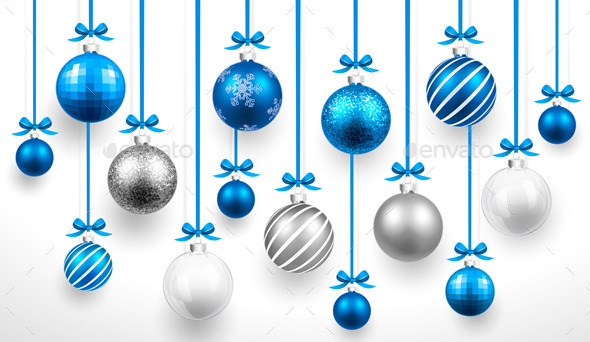 GraphicRiver Christmas Blue Balls 8926624