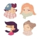 Cartoon of Girls with Cold Symptoms  - GraphicRiver Item for Sale