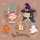 Halloween Cartoon Set Illustration - GraphicRiver Item for Sale