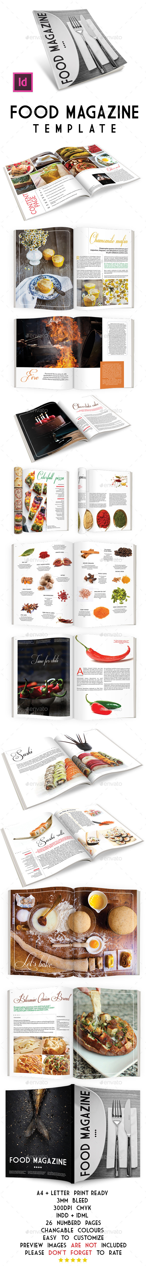 GraphicRiver Food Magazine Template 8926649