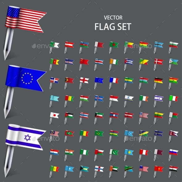 GraphicRiver Vector Modern Set Flags of the World 8926698