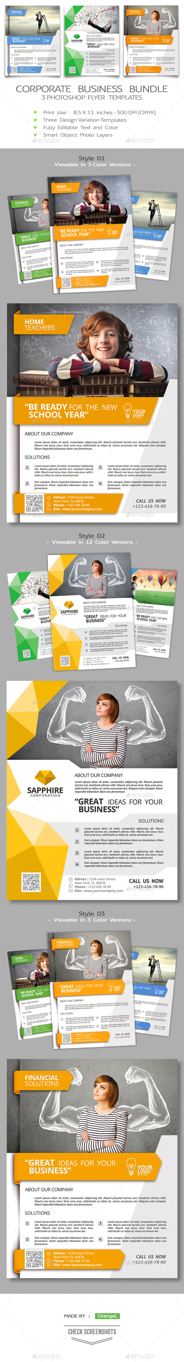 GraphicRiver Corporate Flyer Bundle 8926814
