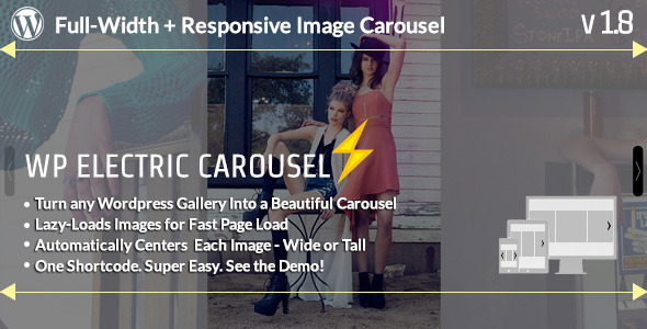 WP Electric Carousel Full Width Responsive Lazy Load Slider