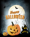 Halloween Party Background with Pumpkins - PhotoDune Item for Sale