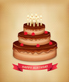 Background with birthday chocolate cake - PhotoDune Item for Sale