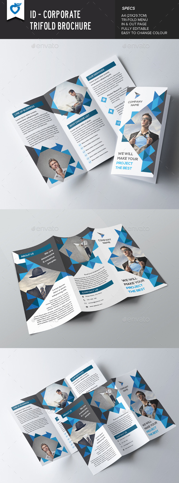 GraphicRiver ID Corporate Trifold Brochure 8927369