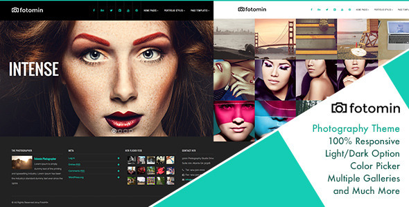 ThemeForest FotoMin Responsive Photography WordPress Theme 8661333