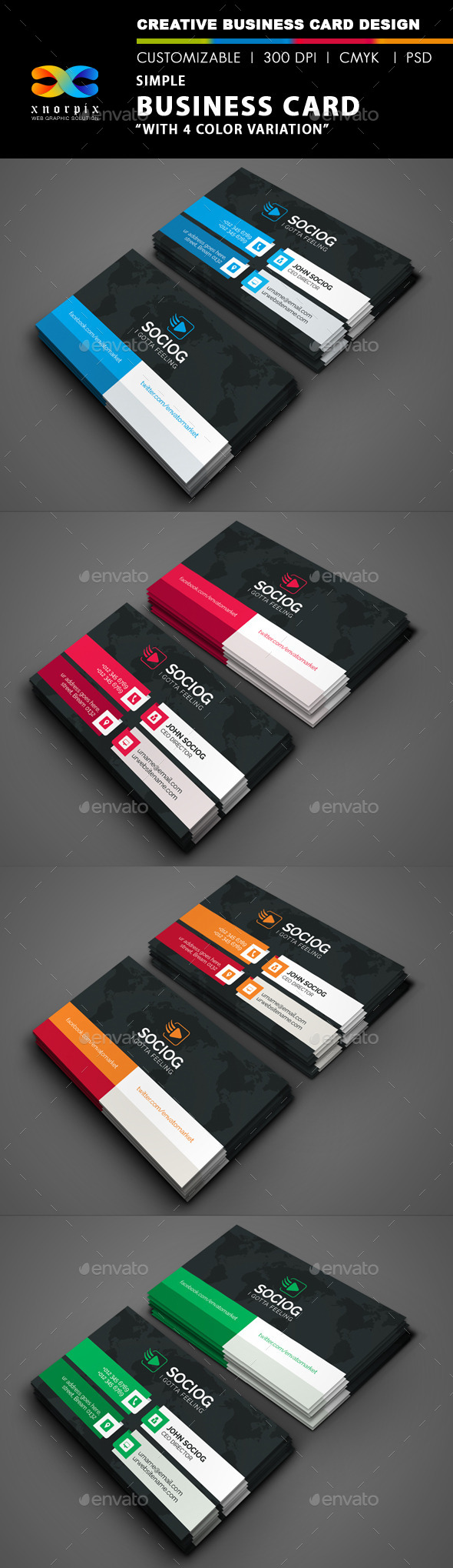 GraphicRiver Simple Business Card 8927895