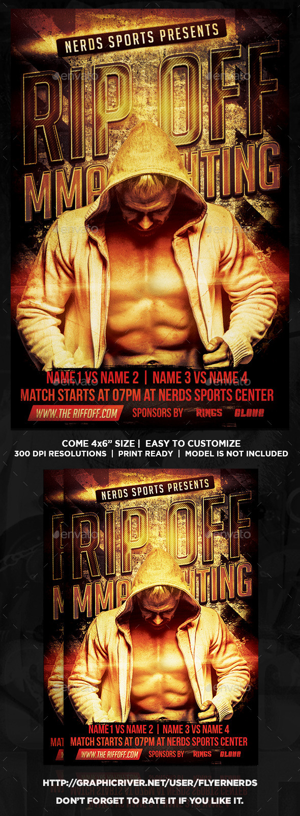 GraphicRiver Rip Off MMA Fighting Flyer 8927904