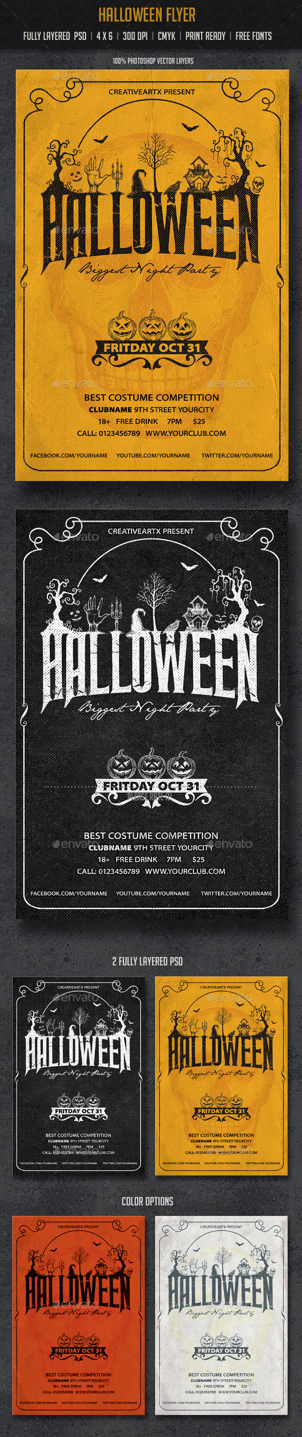 GraphicRiver Halloween Flyer 8928281