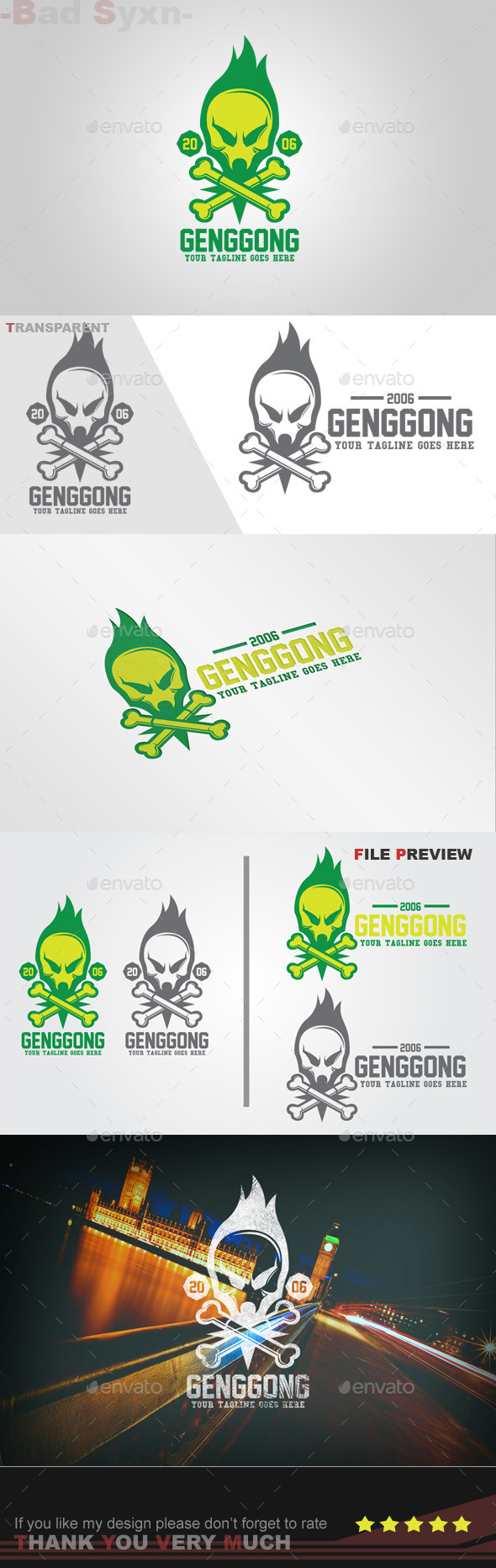 GraphicRiver Genggong Logo Template 8928412
