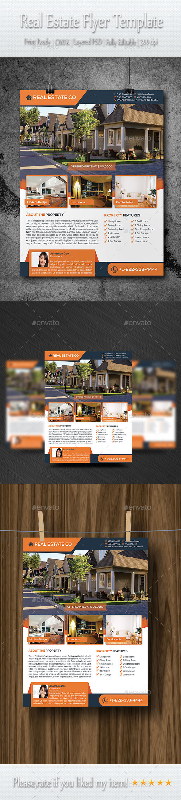 GraphicRiver Real Estate Flyer Template 8928465