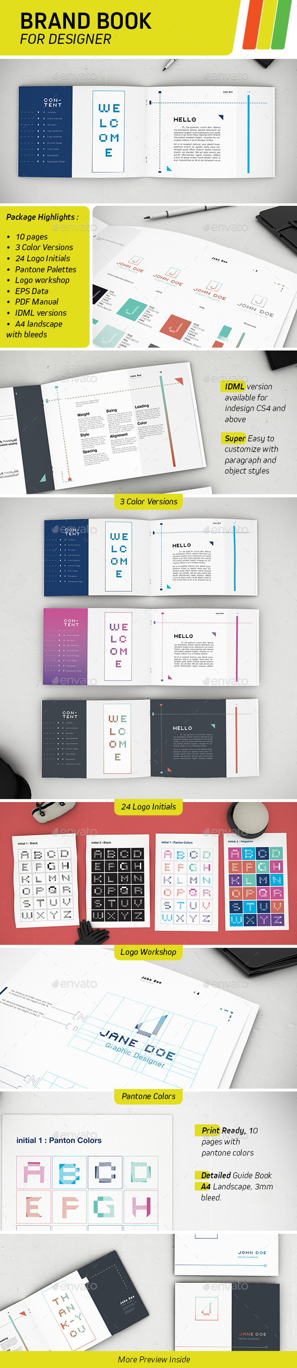 GraphicRiver Brand Book For Designers 8872733