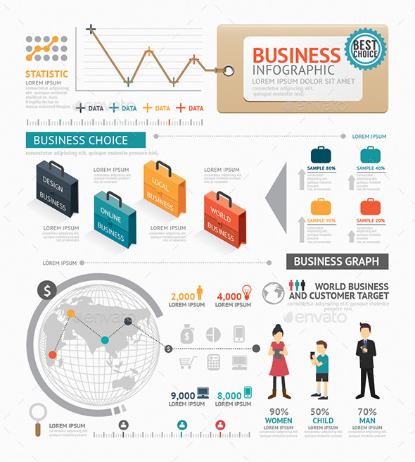 GraphicRiver Infographic Business World Template Design 8824429