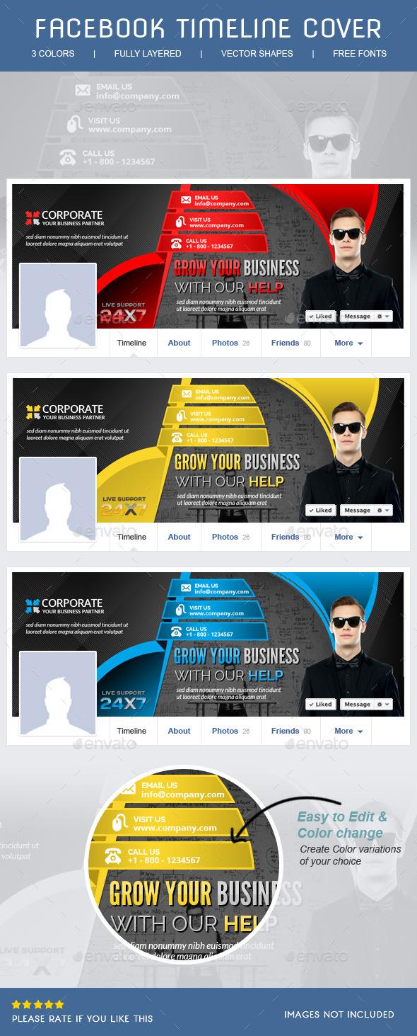 GraphicRiver Corporate Facebook Timeline 8928669