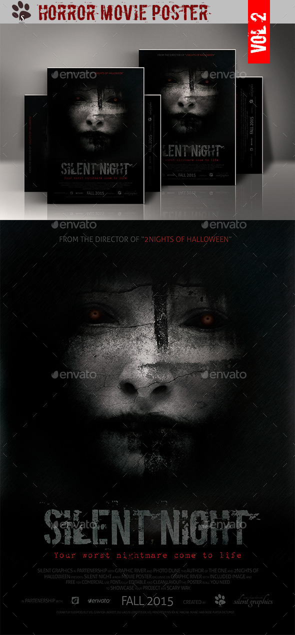 GraphicRiver Horror Movie Poster 8928728