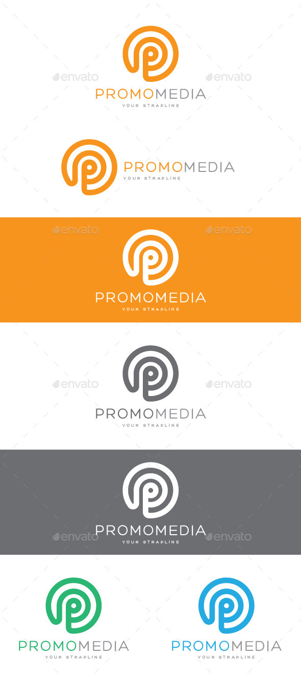 GraphicRiver Promo Media Letter P Logo 8928787