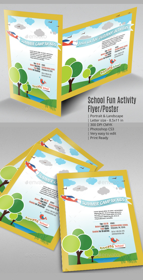 GraphicRiver School Fun Activity Flyer or Poster 8928909