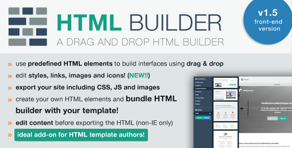 HTML Builder (Front-End Version) - CodeCanyon Item for Sale