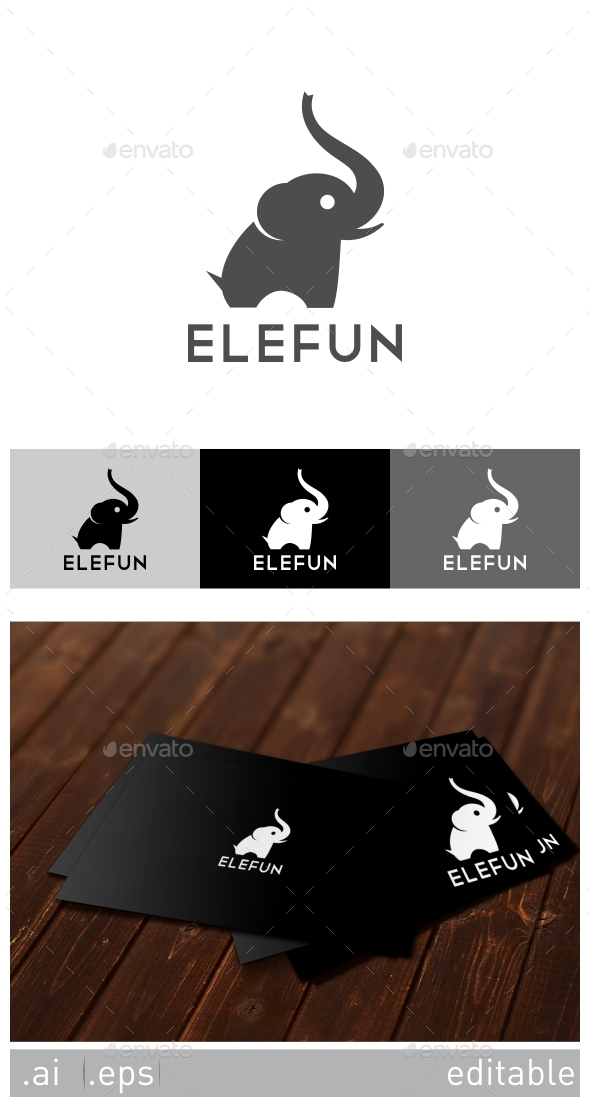 GraphicRiver Elefun Logo Template 8929140