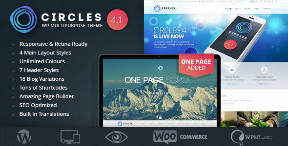 Responsive WordPress MultiPurpose Theme - Circles - Business Corporate