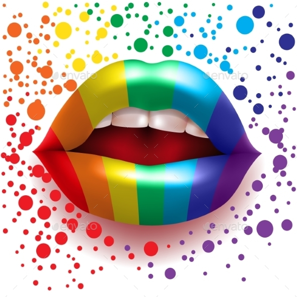 GraphicRiver Rainbow Lips 8929199