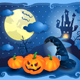 Halloween Background in Blue - GraphicRiver Item for Sale