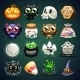 Halloween Cartoon Icons Set - GraphicRiver Item for Sale