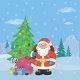 Santa Claus in Winter Forest - GraphicRiver Item for Sale