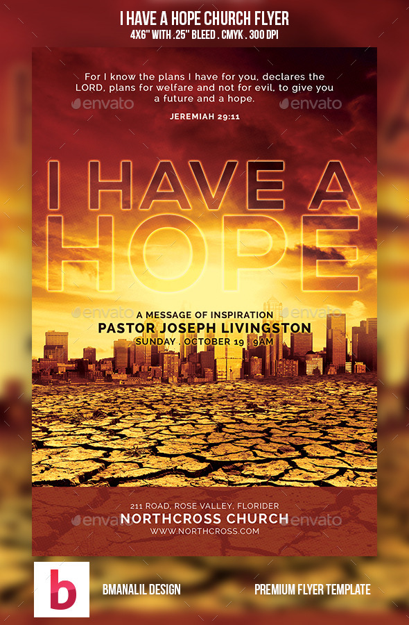 GraphicRiver I Have a Hope Church Flyer 8920888