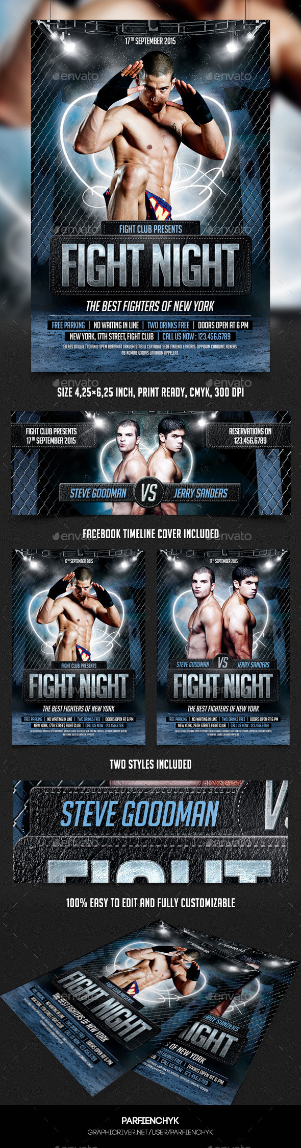 GraphicRiver Fight Night Flyer Template 8929380