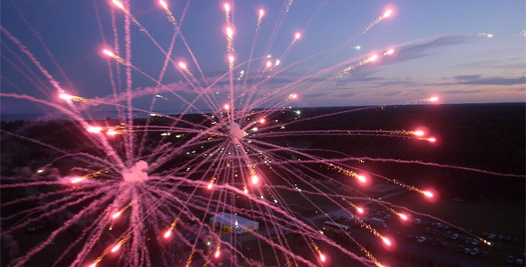 Fireworks Filmed from Octocopter