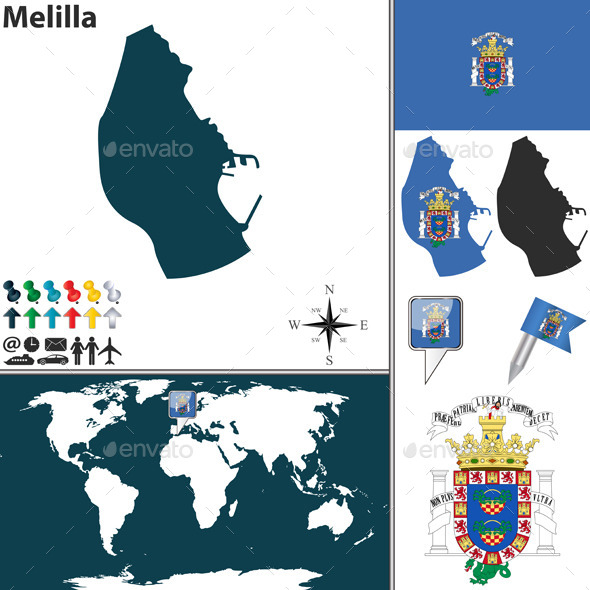 GraphicRiver Map of Melilla 8929398