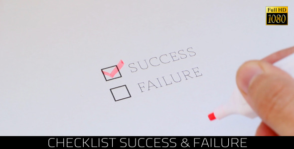 Checklist Success & Failure