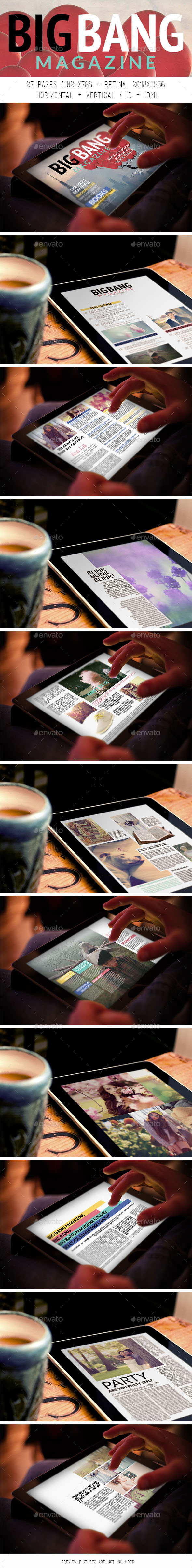GraphicRiver Tablet Big Bang Magazine 8929645