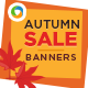 Autumn Sale Web Banner Design - GraphicRiver Item for Sale