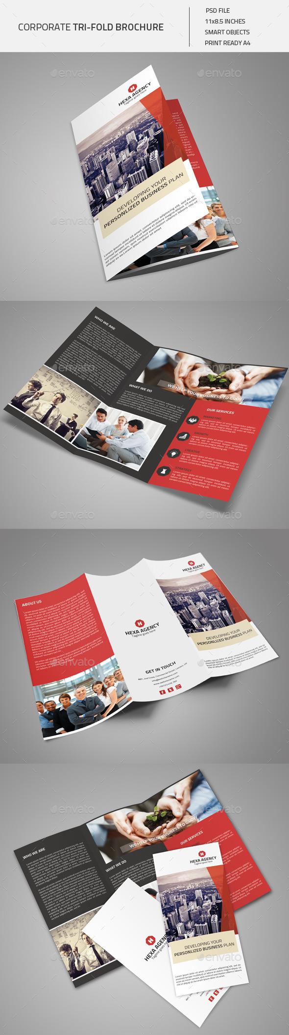 GraphicRiver Corporate Tri-fold Brochure 01 8929868
