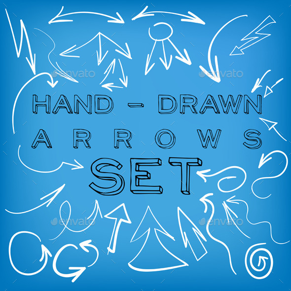 GraphicRiver Set of Hand Drawn Arrows 8930537