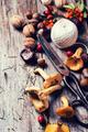 Chanterelle mushrooms with old scissors - PhotoDune Item for Sale