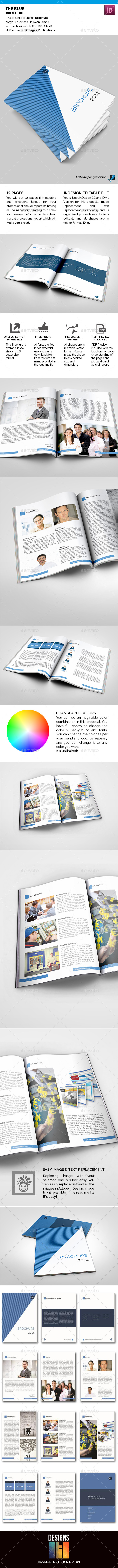 GraphicRiver The Blue Brochure 8931495