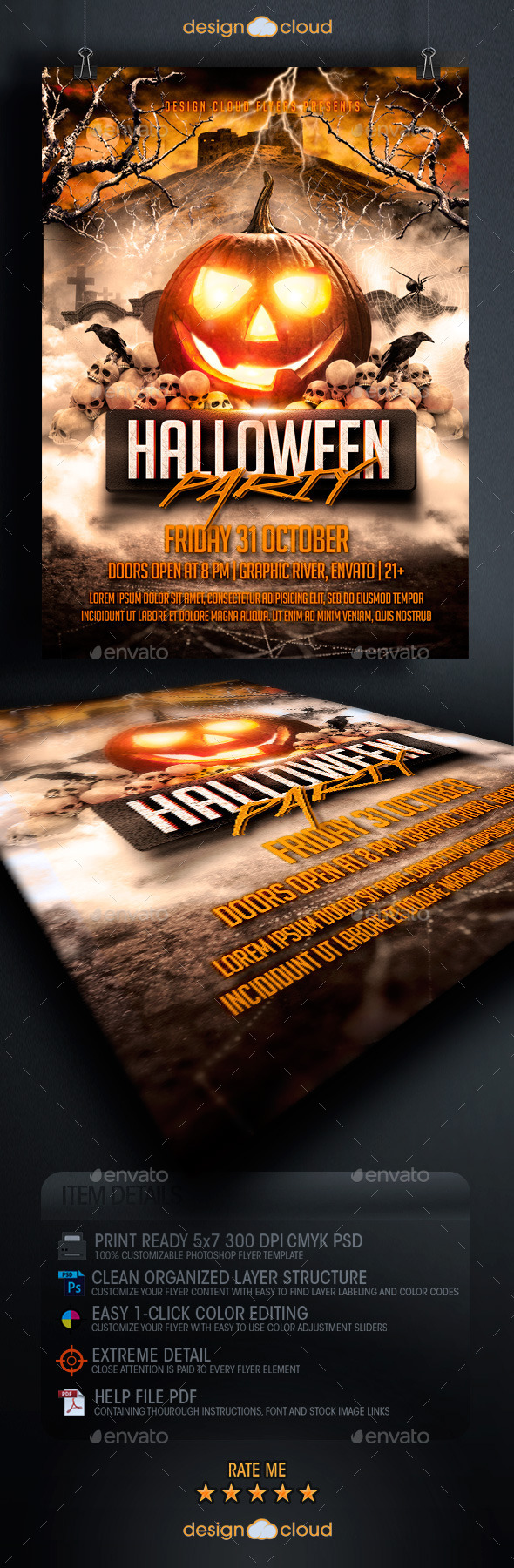 GraphicRiver Halloween Party Flyer Template 8915370