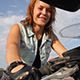 Girl On A Motorcycle - VideoHive Item for Sale