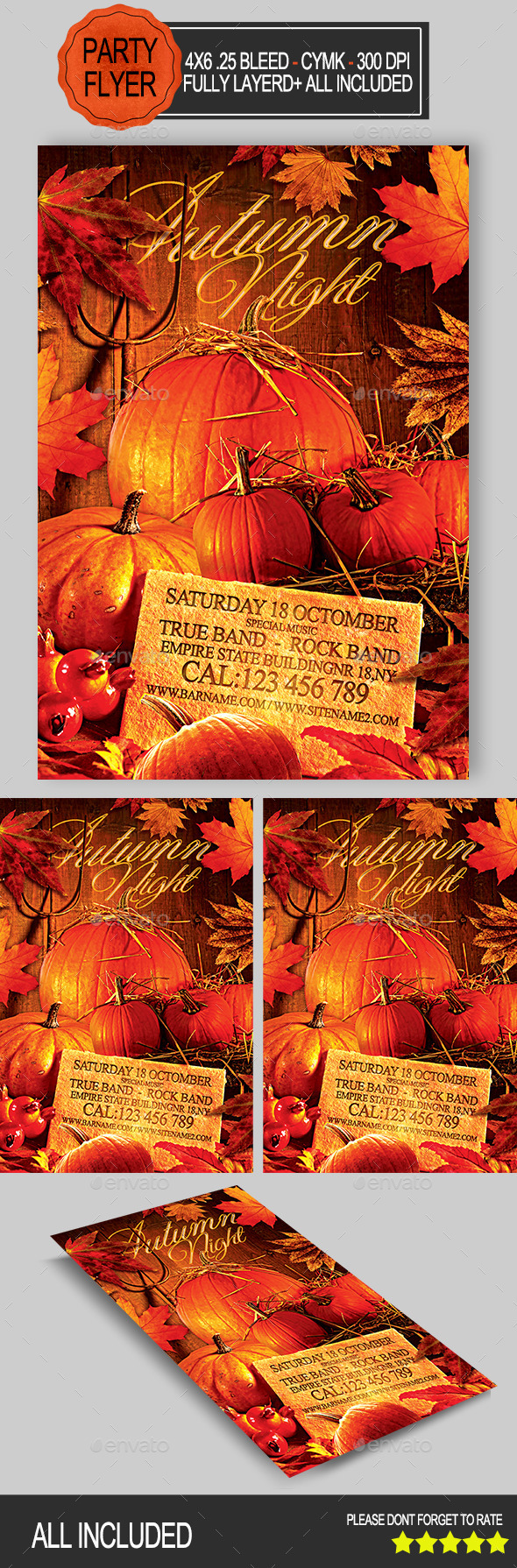 GraphicRiver Autumn Night Party 8932245