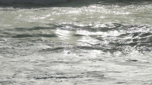 Waves Crashing on Beach 942
