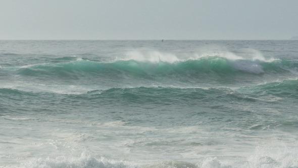 Waves Crashing on Beach 944