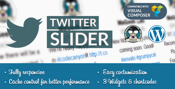 Twitter slider & User card for WordPress - CodeCanyon Item for Sale