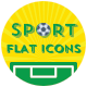 Sports Shop Flat Icons - GraphicRiver Item for Sale