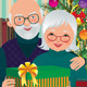 Elderly Couple Celebrating Christmas - GraphicRiver Item for Sale