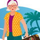 Elderly Lady Travels - GraphicRiver Item for Sale